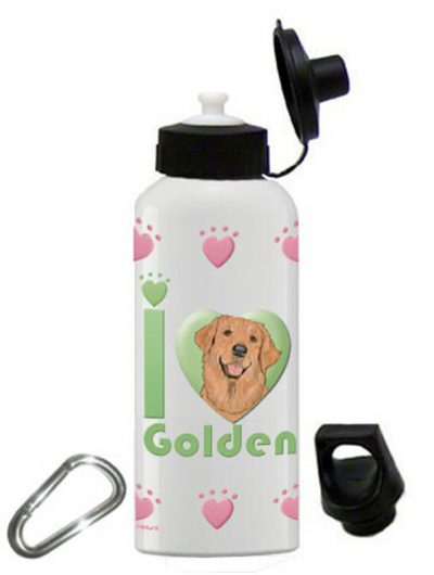 Golden Retriever Water Bottle Stainless Steel 20 oz 1