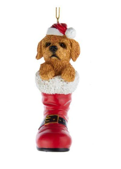 Goldendoodle Boot Ornament
