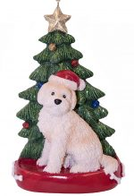 Goldendoodle Christmas Tree Ornament Blonde