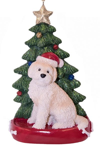 Goldendoodle Christmas Tree Ornament Blonde