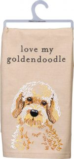 Goldendoodle Kitchen Dish Towel By Kathy