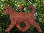 Goldendoodle Ornament Red and Brown