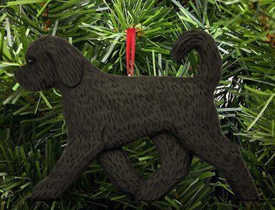 Goldendoodle Ornament Black