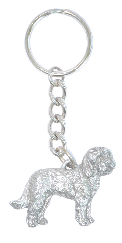 goldendoodle-pewter-keychain
