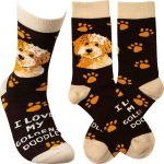 I Love My Goldendoodle Socks By Kathy