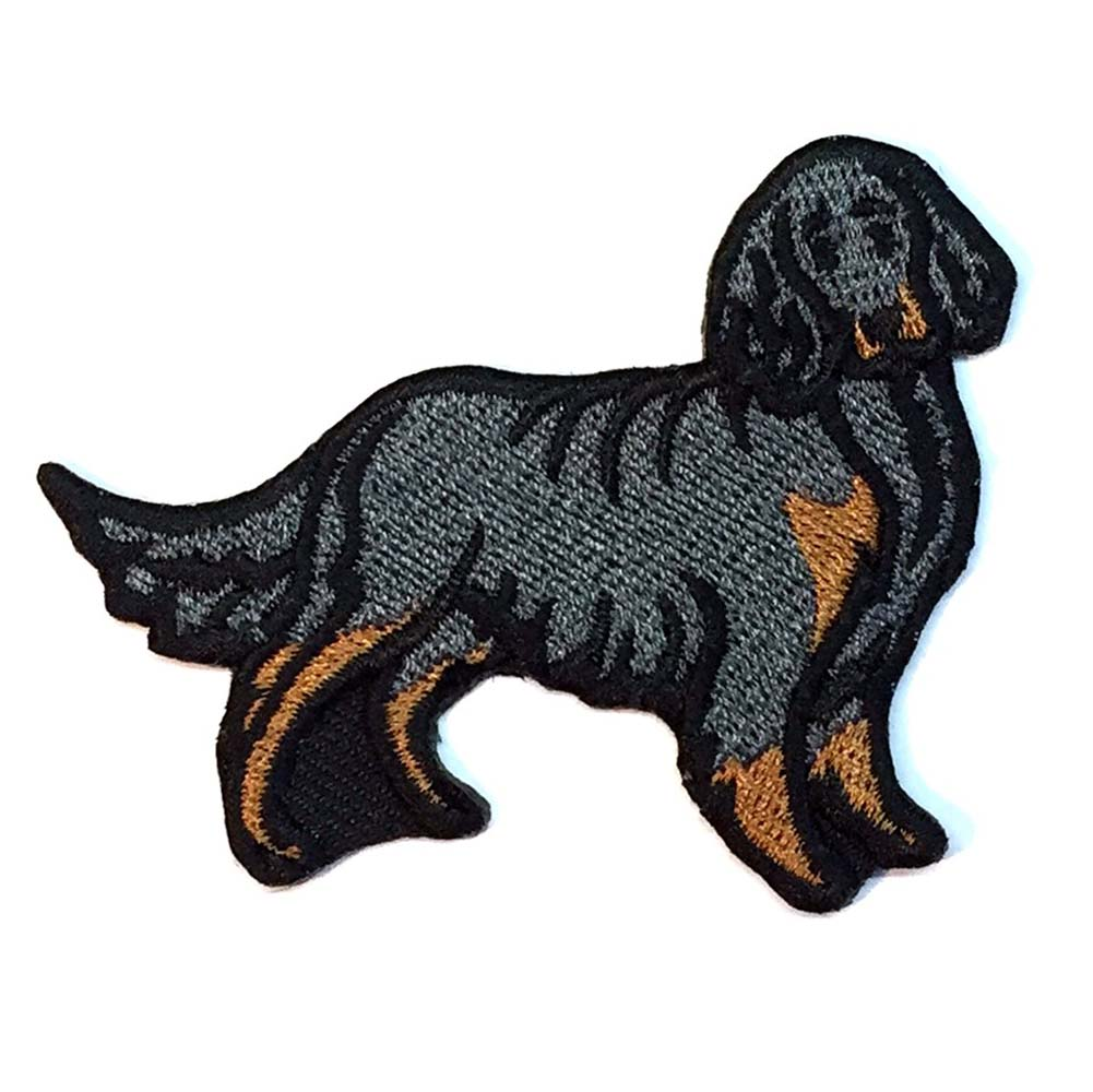 Gordon Setter Iron on Embroidered Patch