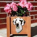 Great Dane Planter Flower Pot Harlequin 1
