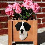 Great Dane Planter Flower Pot Mantle 1