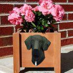 Great Dane Planter Flower Pot Black 1