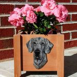 Great Dane Planter Flower Pot Blue 1