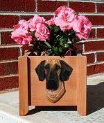 Great Dane Planter Flower Pot Brindle