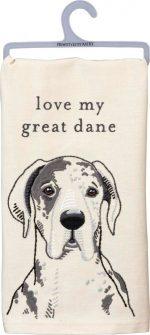 Great Dane Kitchen Dish Towel By Kathy Gray