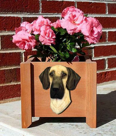 Great Dane Planter Flower Pot Fawn 1