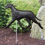 Great Dane Garden Stake Outdoor Sign Black Uncropped