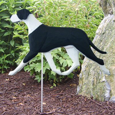 Great Dane Garden Stake Outdoor Sign Black & White Uncropped