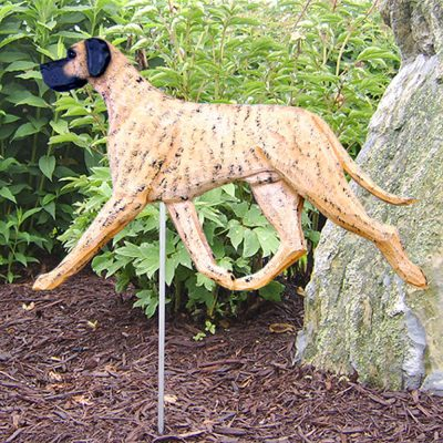 Great Dane Garden Stake Outdoor Sign Brindle Uncropped