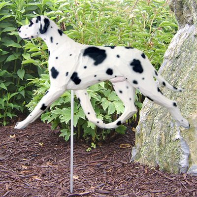 Great Dane Garden Stake Outdoor Sign Harlequin Uncropped