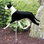 Great Dane Garden Stake Outdoor Sign Black & White