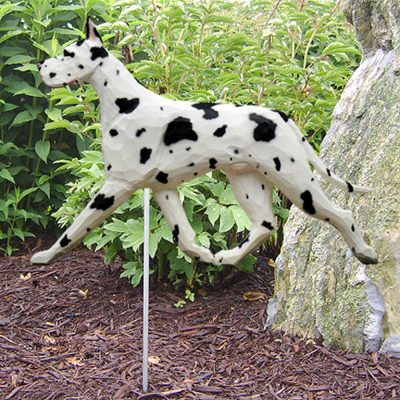 Great Dane Garden Stake Outdoor Sign Harlequin