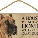 Great Dane Wood Dog Sign Wall Plaque Photo Display 5 x 10 + Bonus Coaster 1