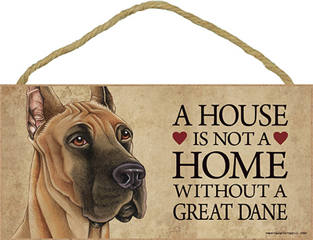 Great Dane Wood Dog Sign Wall Plaque Photo Display 5 x 10 + Bonus Coaster