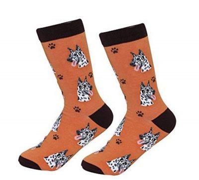 Great Dane Socks Harlequin
