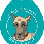 Great Dane Sticker 4×4″ 1