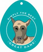 Great Dane Sticker 4x4""