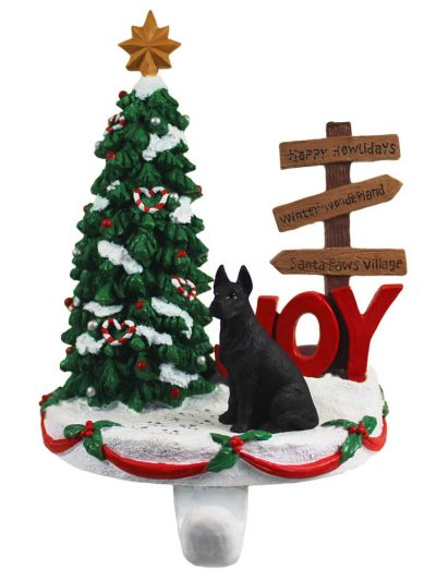 Great Dane Stocking Holder Hanger Black
