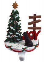 Great Dane Stocking Holder Black Uncropped
