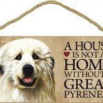 Great Pyrenees Wood Dog Sign Wall Plaque Photo Display 5 x 10 + Bonus Coaster 1