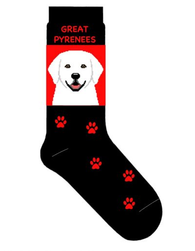 great-pyrenees-socks-red