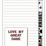 Great Dane Dog Notepads To Do List Pad Pencil Gift Set 1