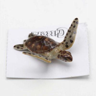Green Sea Turtle Porcelain Figurine