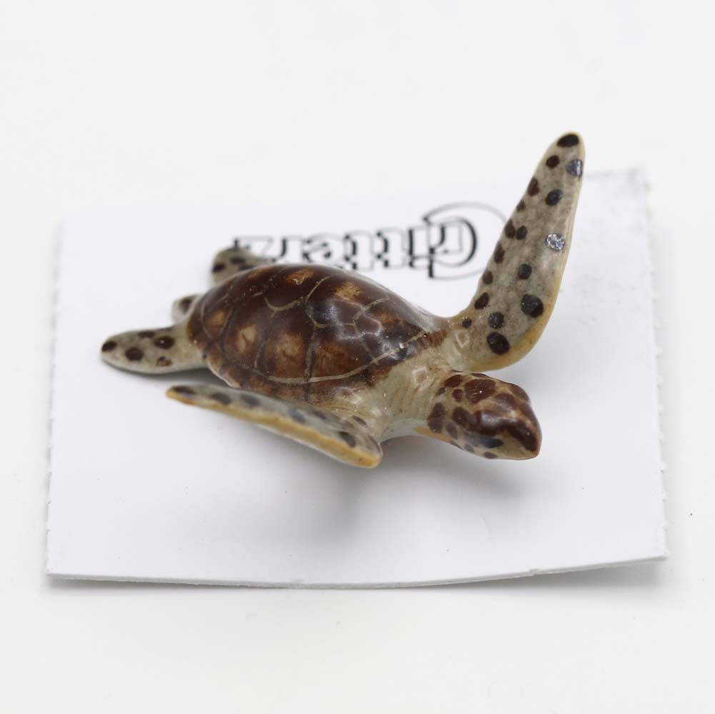 Green Sea Turtle Porcelain Figurine