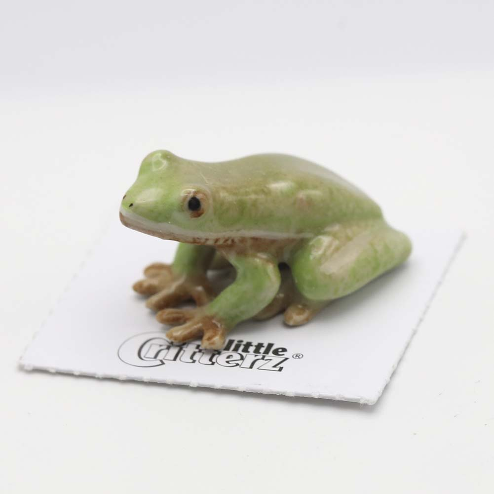 Green Tree Frog Porcelain Figurine