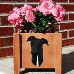 Greyhound Planter Flower Pot Black 1