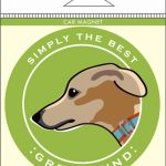 Greyhound Car Magnet 4×4″ 1