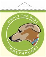 Greyhound Car Magnet 4x4""