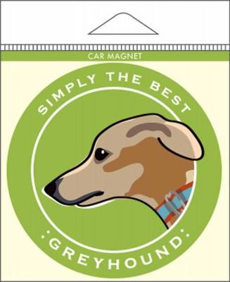 "Greyhound Car Magnet 4x4"""