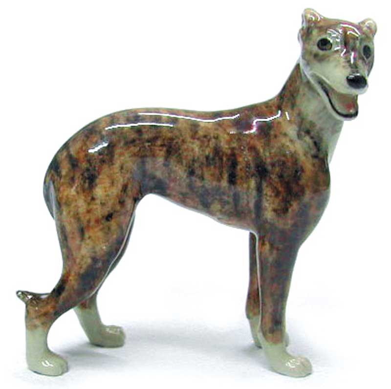 Greyhound Hand Painted Porcelain Figurine Brindle