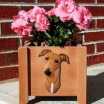 Greyhound Planter Flower Pot Red 1