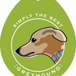 Greyhound Sticker 4×4″ 1