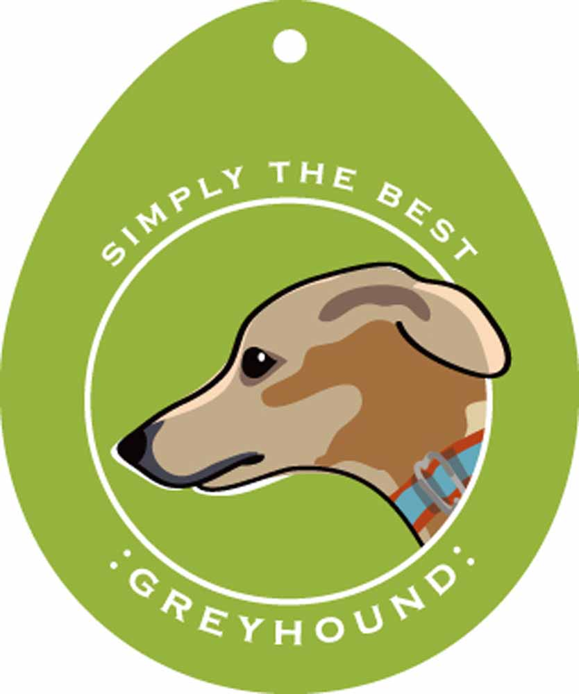 Greyhound Sticker 4x4""