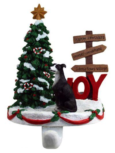 Greyhound Stocking Holder Hanger Black