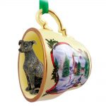 Greyhound Teacup Ornament Brindle