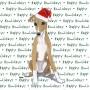 Greyhound Dog Coasters Christmas Themed Puppy 1