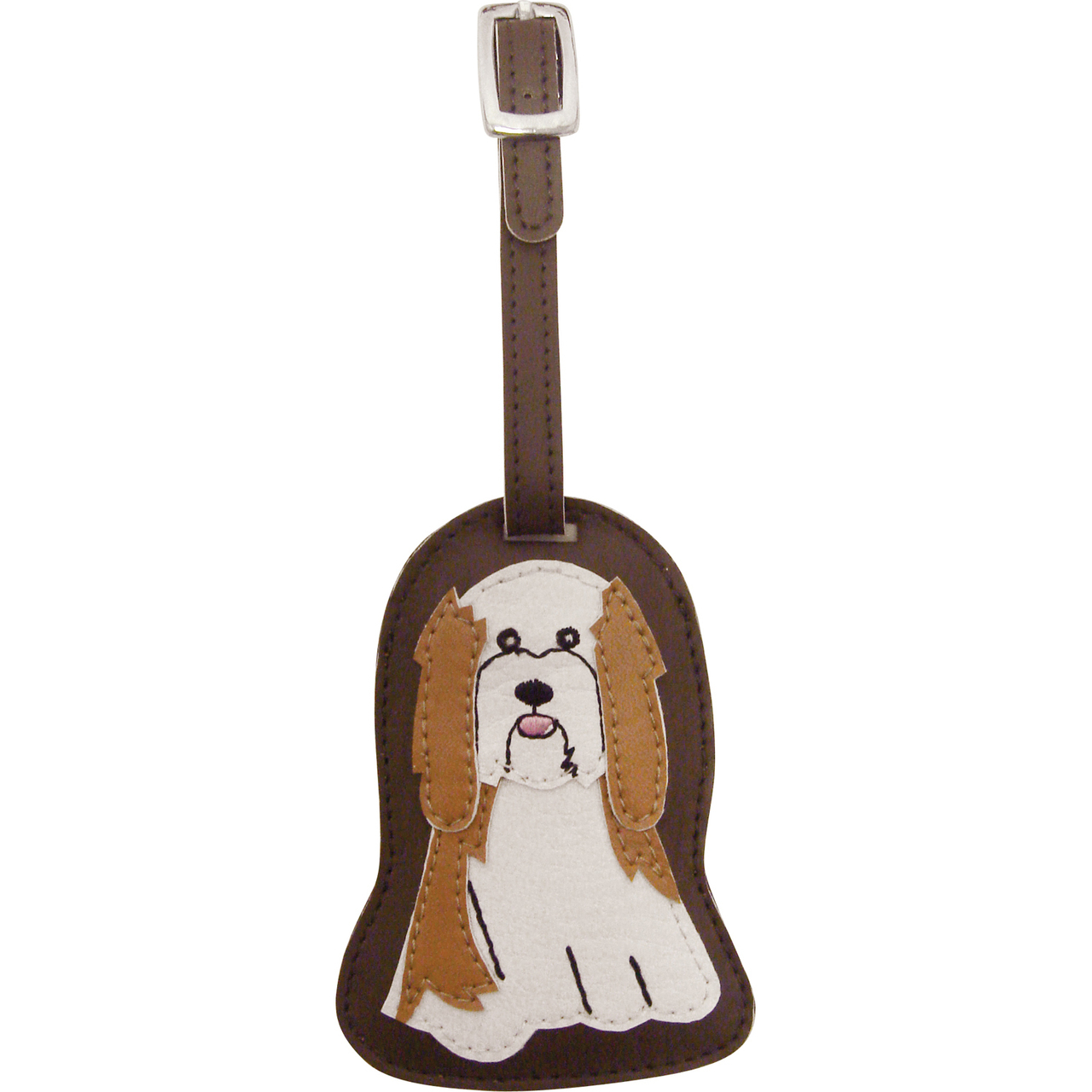 Havanese Dog Luggage Tag Briefcase Gym Backpack Travel ID