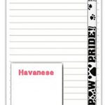 Havanese Dog Notepads To Do List Pad Pencil Gift Set 1