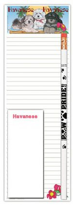 Havanese Dog Notepads To Do List Pad Pencil Gift Set